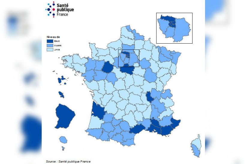 Carte De France Covid La Liste Des Departements En Situation De Vulnerabilite Sortiraparis Com