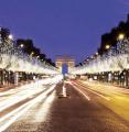 Les Illuminations de Noël des Champs-Elysées 2014 avec Omar Sy