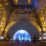 forêt de sapins sous la Tour Eiffel