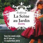 La Scène au jardin à Chantilly