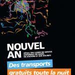 Transports gratuits à Paris la nuit du nouvel an 2014, réveillon 2013