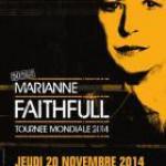 Marianne Faithfull en concert à l'Olympia de Paris en 2014 pour ses 50 ans de carrière