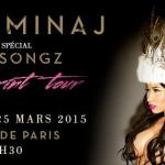 Nicki Minaj en concert au Zénith de Paris en mars 2015