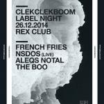 Clekclekboom au Rex Club avec French Fries