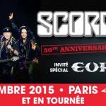Scorpions en concert à Paris Bercy en novembre 2015 avec Europe