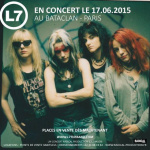 L7 en concert au Bataclan de Paris en juin 2015