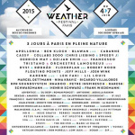 Weather Festival 2015 à Paris : dates, programmation et réservations