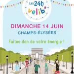 Les 24h Vélib' 2015 sur les Champs-Elysées à Paris