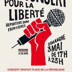 Reporters sans frontières présente un concert pour la liberté  : concert gratuit sur la Place de la République