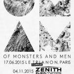 Of Monsters And Men en concert au Zénith de Paris en novembre 2015