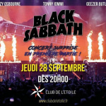 "Retransmission du concert de Black Sabbath ""The End of the End"" au Club de l'Etoile"