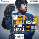 Finale de la Coupe de France de Hockey sur glace 2018 à l'AccorHotels Arena Bercy de Paris