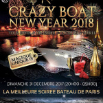 Réveillon 2018 à Paris : Crazy Boat Year 2018 au River's King