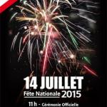 Feu d'artifice du 14 Juillet 2015 à Gagny
