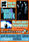 Concerts : Thee Mojofuckers + The Wise Dude's Revolver + French Boutik