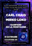 Electrosanne Tour 2015 & Comet Plan Release Party au Rex Club