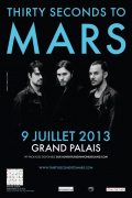 Thirty Seconds To Mars en concert au Grand Palais en juillet 2013