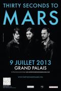 Thirty Seconds To Mars en concert au Grand Palais en juillet 2013