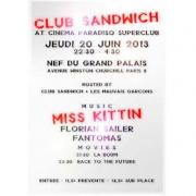 Cinema Paradiso SuperClub : Club Sandwich au Grand Palais