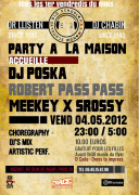 "PARTY A LA MAISON ""VINYLS LOVES VIDEOS"" guest DJ POSKA !"