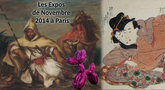Les expositions de Novembre 2014 à Paris