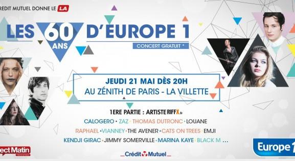 Concert 60 ans d'Europe 1 : gagnez vos places !