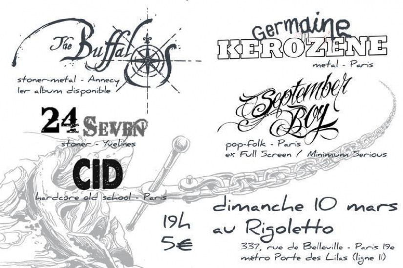 The Buffalos + Germaine Kerozene + September Boy + 24 Seven + CID