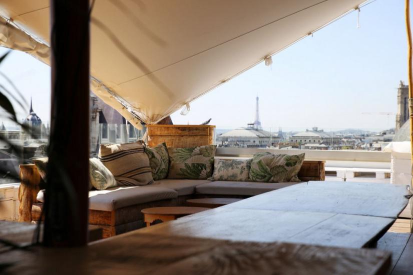 le perchoir marais de retour sur le rooftop du bhv et en mode jungle pour l 39 t 2016. Black Bedroom Furniture Sets. Home Design Ideas