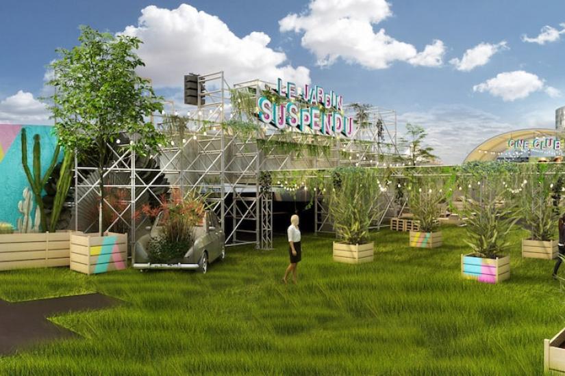 Ouverture du jardin suspendu immense rooftop v g tal sur for Jardin suspendu