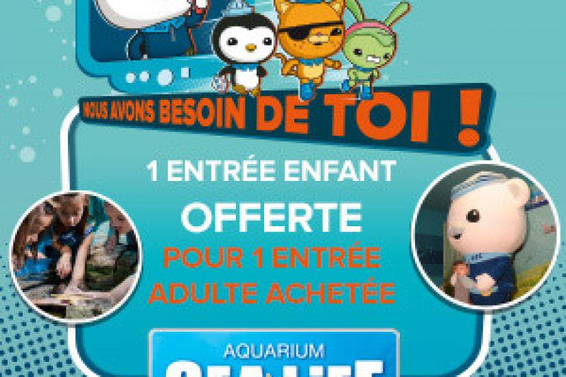 l aquarium sea life propose une entr e enfant gratuite pour d couvrir les octonauts. Black Bedroom Furniture Sets. Home Design Ideas
