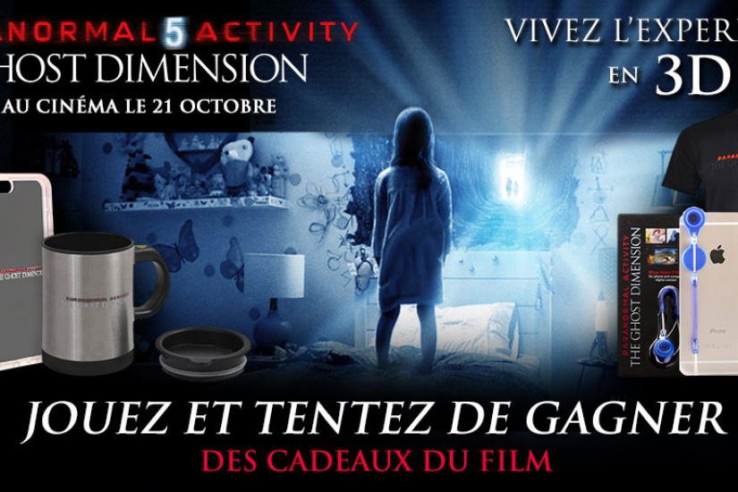 Paranormal Activity 5 Ghost Dimension, goodies à gagner
