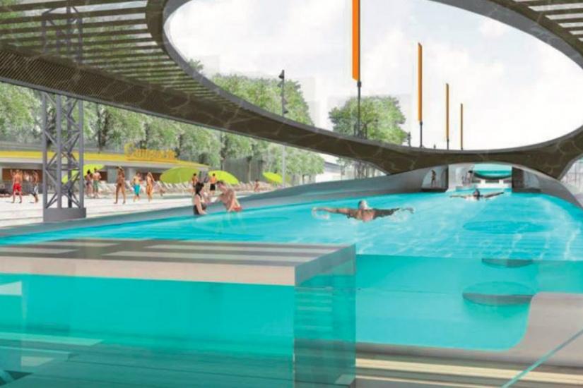 L 39 arche une piscine flottante port de javel d s 2019 for Eau de javel piscine