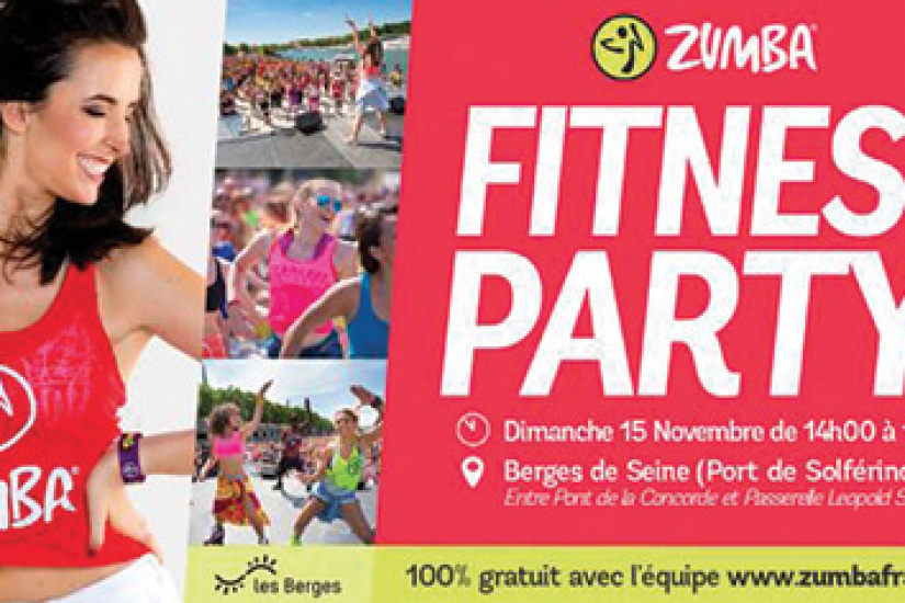 Zumba Fitness Party sur les Berges de Seine