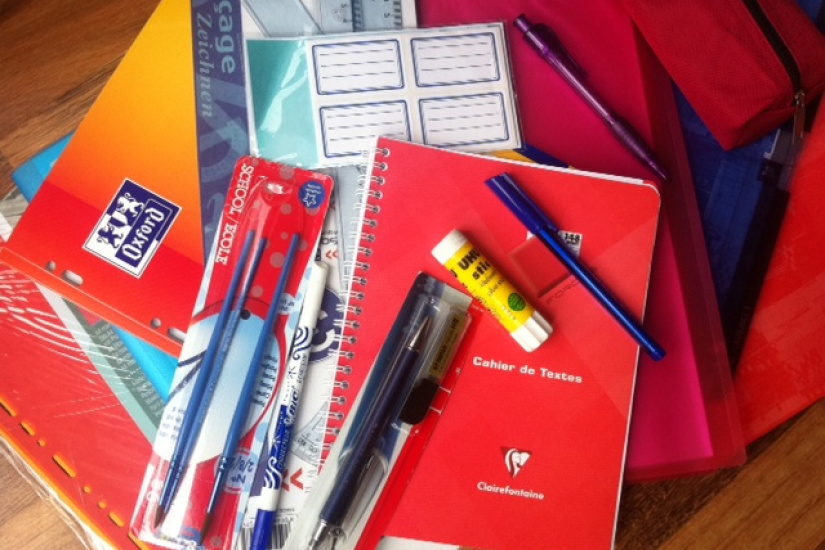fournitures scolaires pas cher
