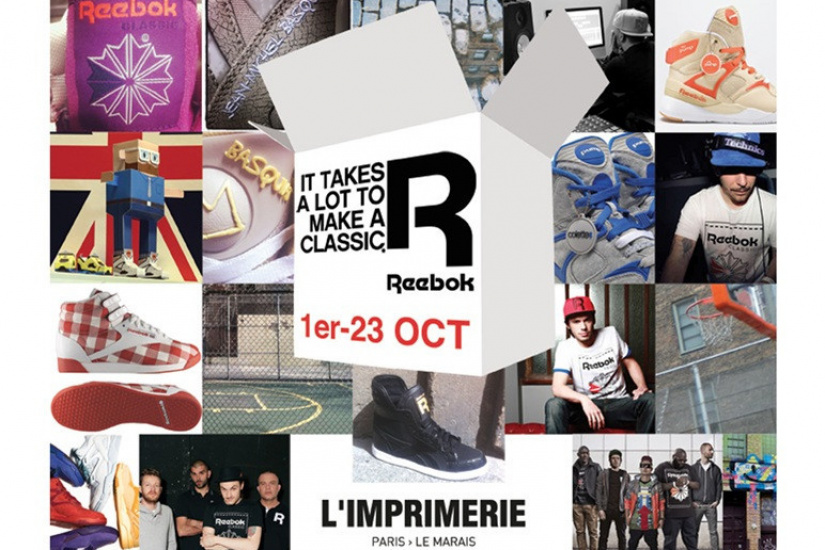 Reebook à l'Imprimerie : Pop Up Store et Exposition