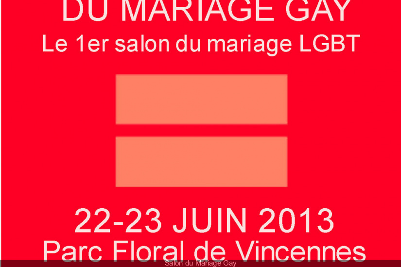 Salon du Mariage Gay au Parc Floral de Paris