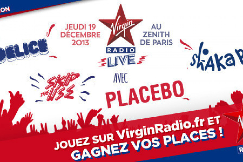 Virgin Radio Live au Zénith de Paris avec Placebo, Shaka Ponk, Skip the Use et Yodelice