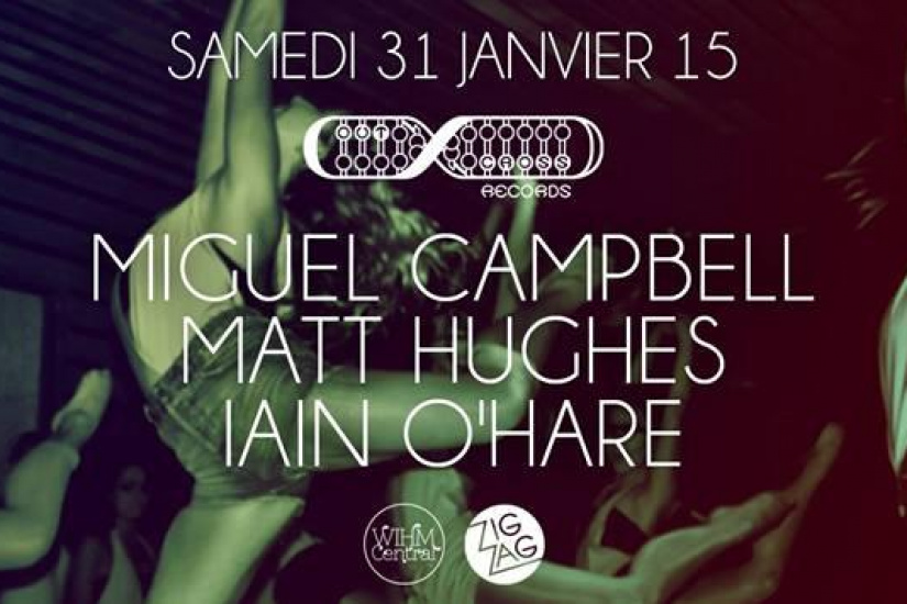 Outcross Records Night au Zig Zag Club avec Miguel Campbell