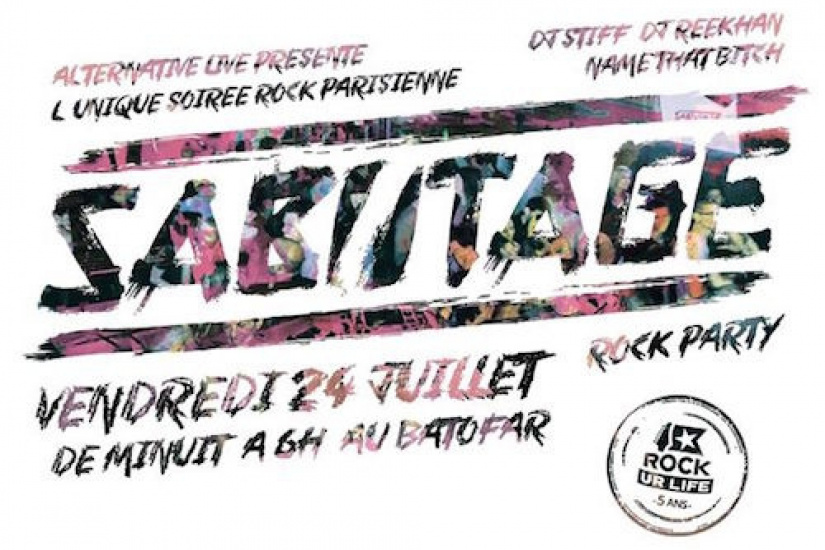 Sabotage Rock Party au Batofar avec Rockurlife