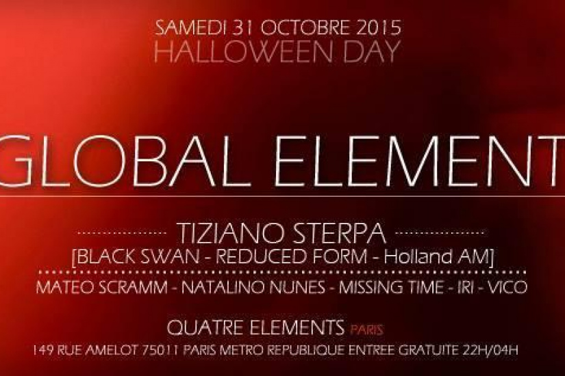 "Global Element ""Halloween Day 2015"" au 4 Elements"
