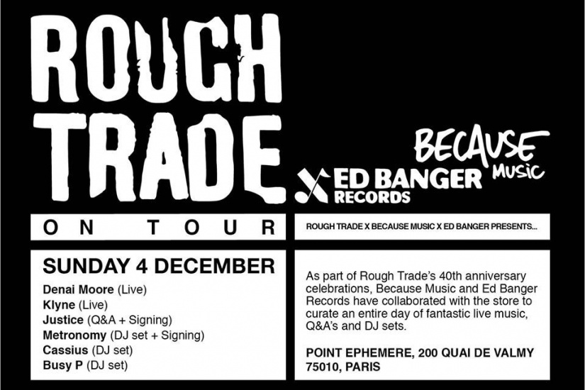 Rough Trade en Tour au Point Ephémère de Paris