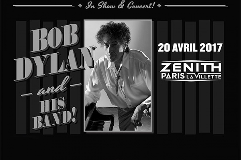 Bob Dylan and His Band en concert au Zénith de Paris en avril 2017