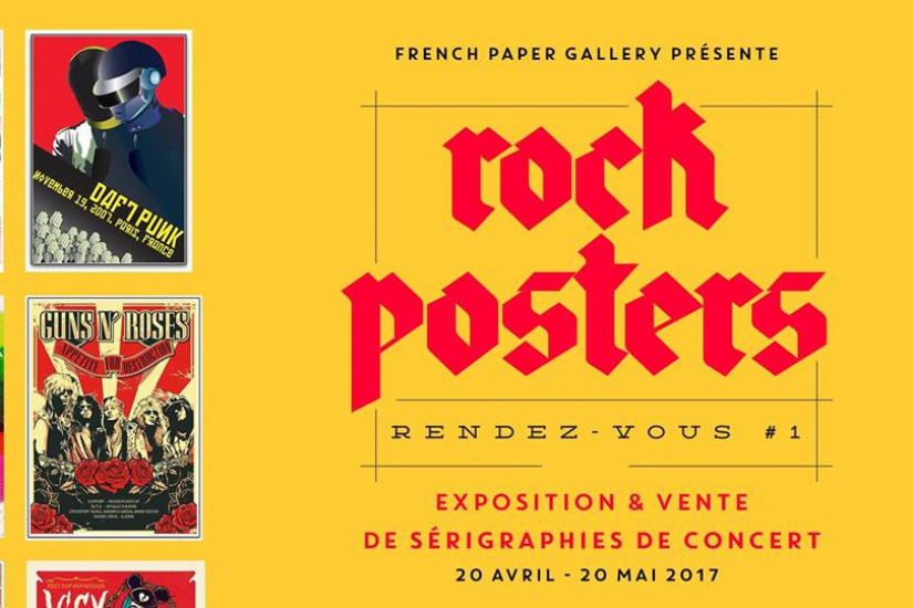 Rock Posters Rendez-Vous #1 à la French Paper Gallery
