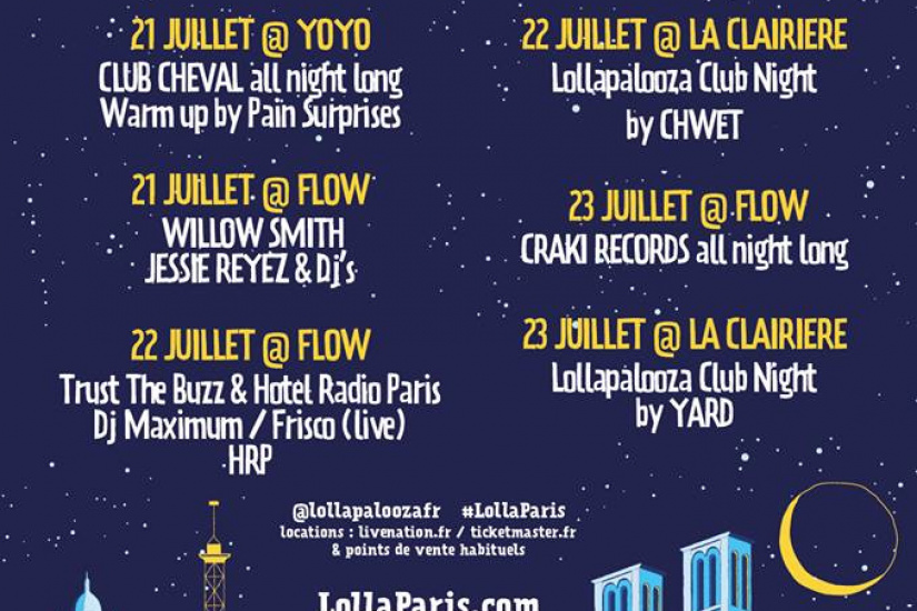 Lollapalooza Club Night à Paris