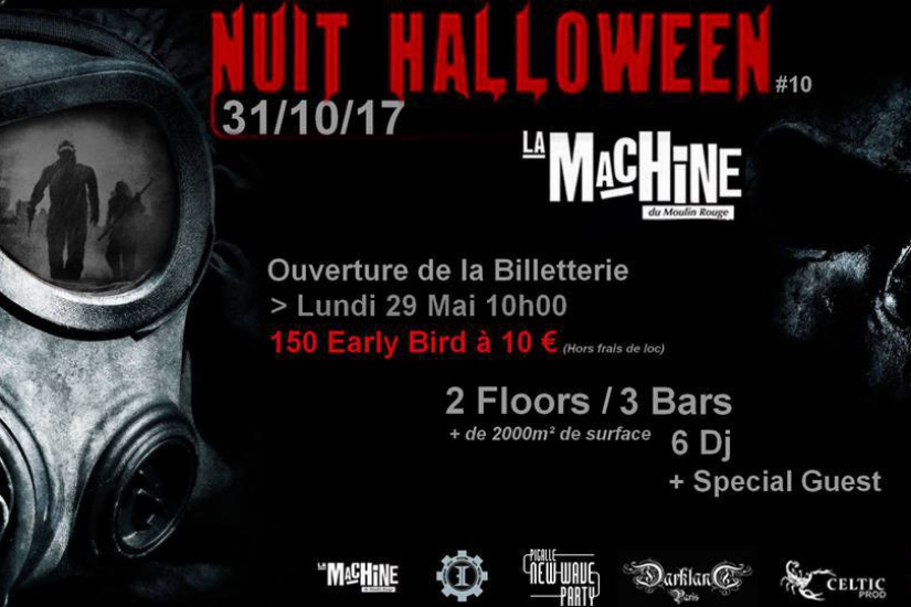 Nuit Halloween 2017 à La Machine