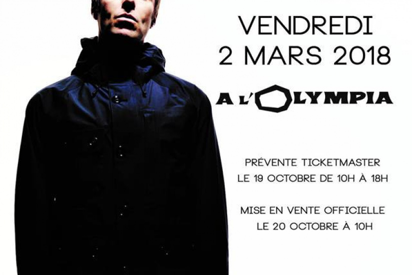 Liam Gallagher en concert à l'Olympia de Paris en mars 2018