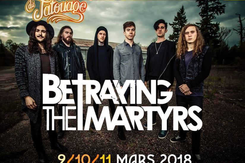Mondial du Tatouage 2018 à Paris : Betraying The Martyrs, Black Moth et The Red Goes Black