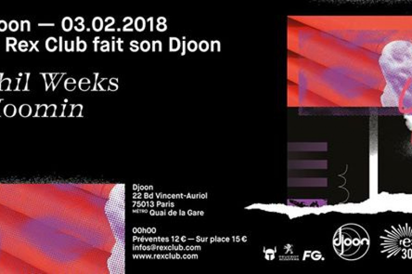 Djoon x Rex Club 30 years avec Phil Weeks et Moomin