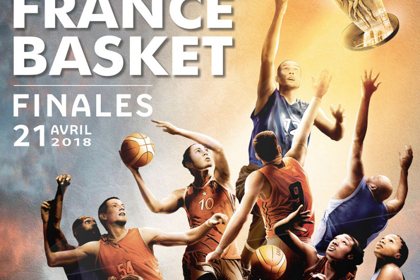 Finales de la Coupe de France de Basket 2018 à l'AccorHotels Arena Bercy de Paris