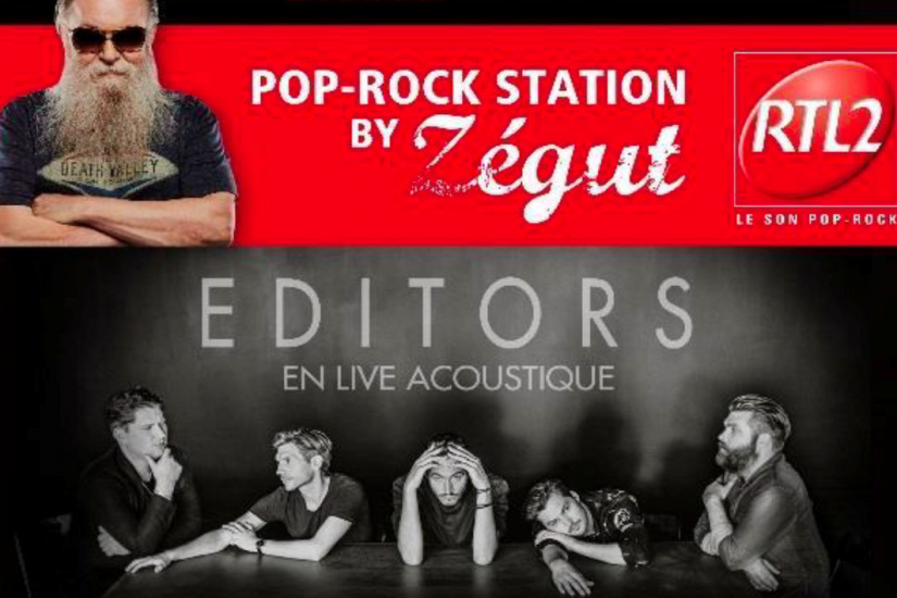 Pop Rock Station by Zégut au Hard Rock Café Paris avec Editors
